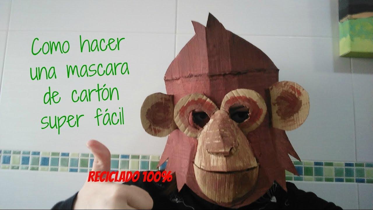 mÁscara de cartÓn - youtube