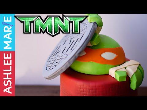 Teenage Mutant Ninja Turtles Head Cake And Fondant Hands - TMNT Cake 2