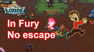 In Fury, he tried to escape (Live) KvK  - 王國紀元 Lords Mobile