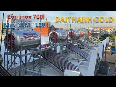 Review Bồn nước inox 700l | Máy nước nóng mặt trời 160l | Đại Thành GOLD