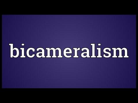 Bicameralism Meaning