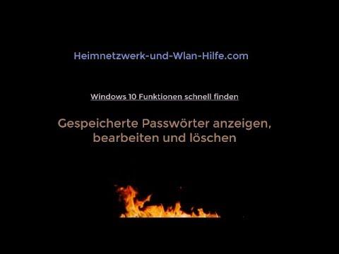 Gespeicherte Passwörter unter Windows 10 anzeigen bearbeiten und löschen von YouTube · Dauer:  1 Minuten 46 Sekunden