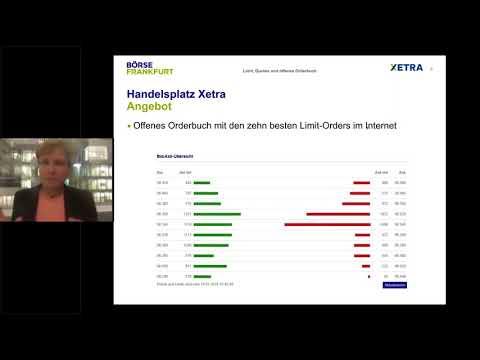 Webinar: Limits, Quotes und offenes Orderbuch - Vorteile der Börse in der Praxis nutzen
