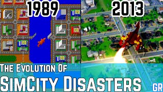 The Evolution of All SimCity Disasters 1989 - 2013
