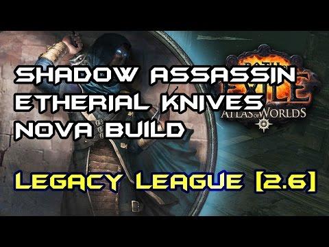 Path of Exile] Etherial Knives Poison Nova Build  Insane