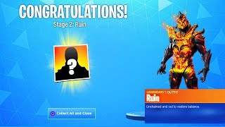 How To UNLOCK STAGE 2 RUIN Skin In Fortnite? Ruin Skin Key possible Locations (Season 8)