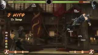 Mortal Kombat 9 - Smoke обучение + комбо