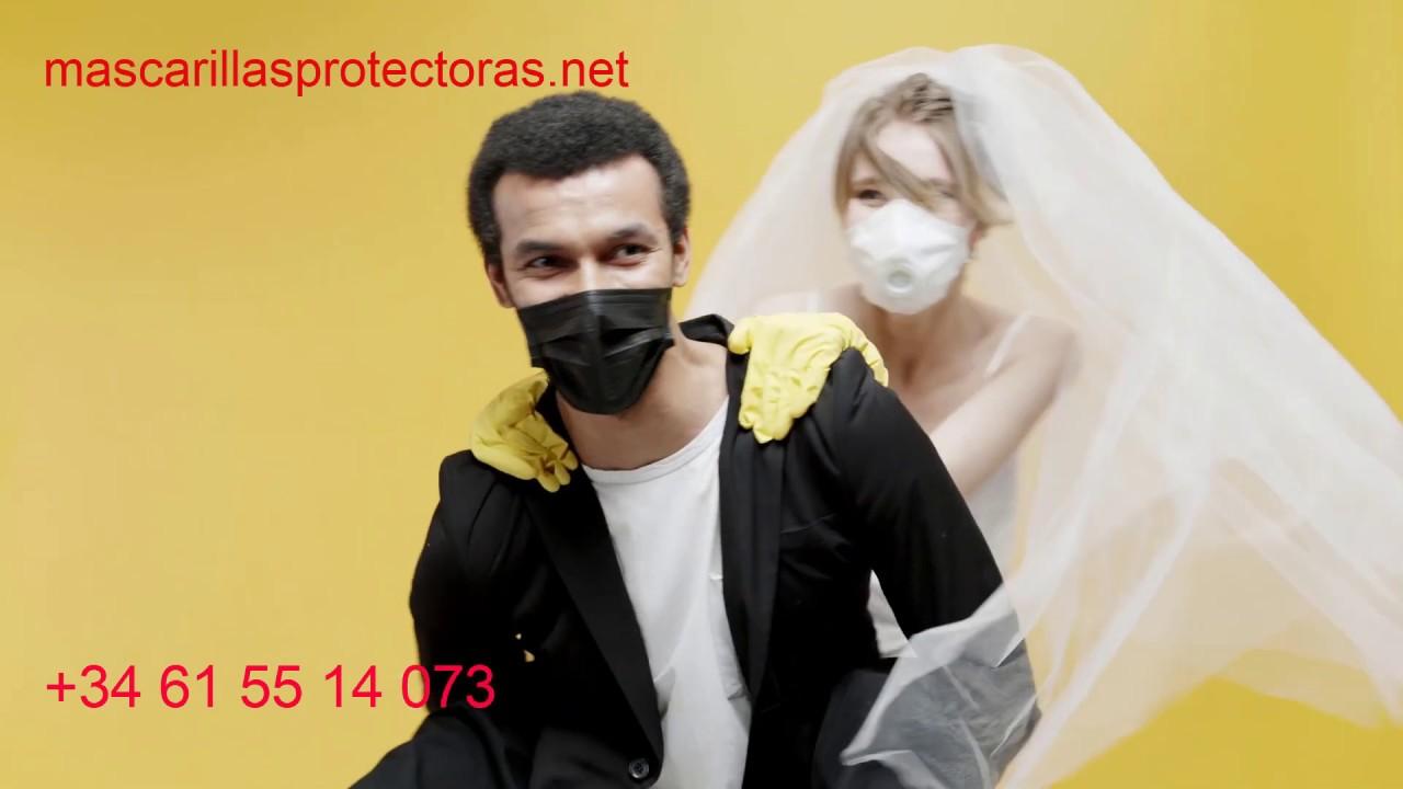Como se celebra una boda con mascarillas en tiempos de confinamiento (panfleto)