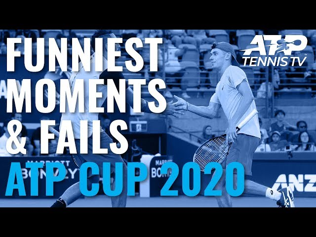 Funniest Moments & Fails 😂   ATP Cup 2020