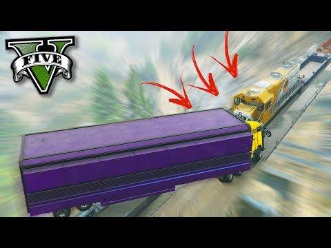 GTA V Online: TREM vs CAMINHÃO INDESTRUTÍVEL - O DESAFIO INCRÍVEL!!! (DLC GUNRUNNING)
