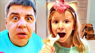 Nastya bir dondurma salonu, yeni çocuk hikayesi oynuyor