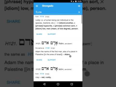 Study ancient Greek Strongsdict Strong's Greek Hebrew Dictionary App Android