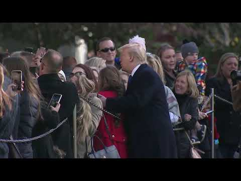 SURPRISE! President Trump Surprises White House Tour Group