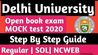 Delhi University online mock test for 3rd year student