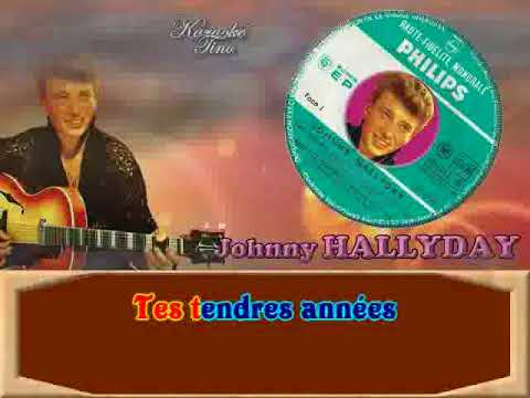 karaoke tino johnny hallyday tes tendres ann es youtube. Black Bedroom Furniture Sets. Home Design Ideas