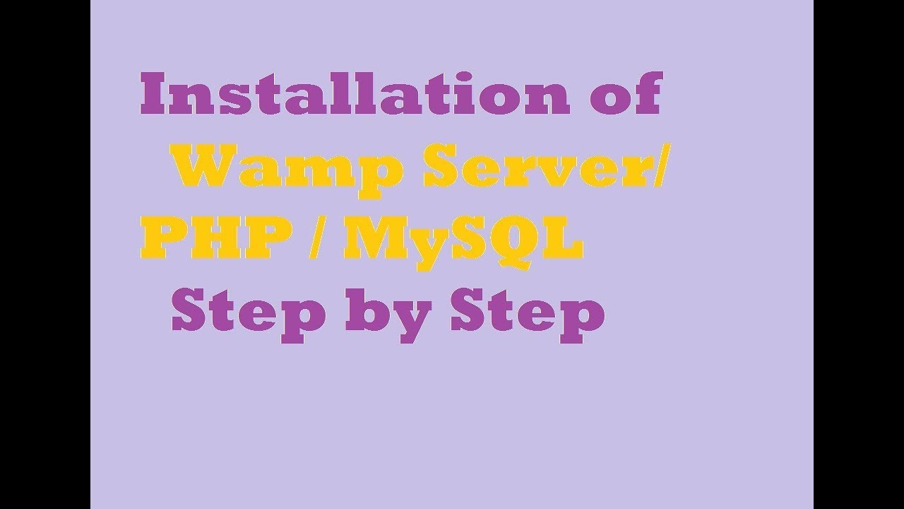 how to install wamp server in windows 7