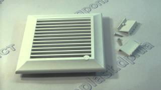 Решетка вентиляционная 135 мм Smart Duo(Применяется для монтажа в гипсокартонных панелях, дверях ванных комнат, туалетов, кухонь.http://dnplast.dp.ua/catalog/resh..., 2015-02-18T11:24:08.000Z)
