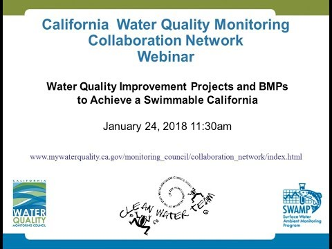 Water Quality Improvement Projects And BMPs For A Swimmable California
