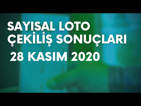 Çılgın Sayısal Loto Sonuçları Açıklandı   28 Kasım 2020