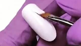 Китайская роспись, цветы. Ускоренный видео урок дизайна ногтей
