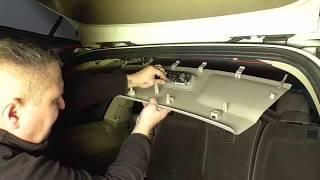 Вольво хс90  обшивка багажника, как снять.