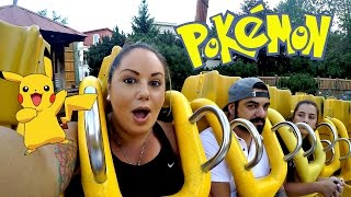 CATCHING POKEMON AT SIX FLAGS!
