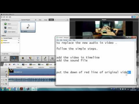 How to remove audio and add new audio in a video in AVS video editor