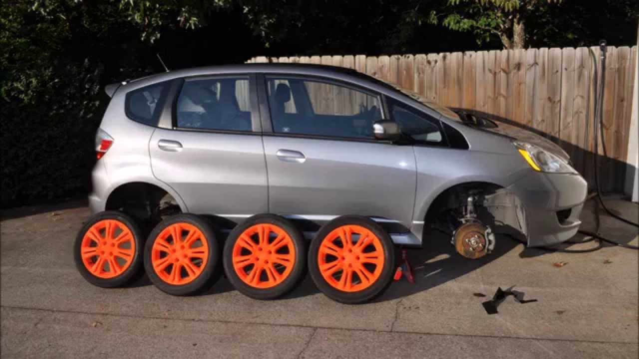 honda fit stock wheels plasti dipped blaze orange youtube. Black Bedroom Furniture Sets. Home Design Ideas