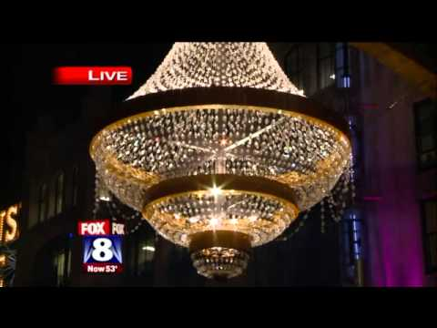 Playhouse Square Chandelier Lighting - YouTube