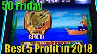 ★BEST 5 PROFIT IN 2018☆50 FRIDAY★50 Videos (139 Slot games) uploaded on YouTube in 2018☆彡栗スロット/カジノ