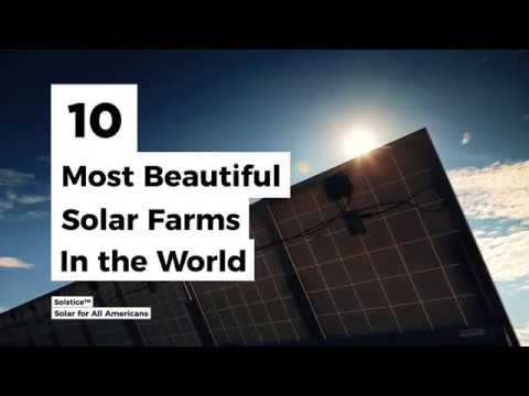 10 Most Beautiful Solar Farms in the World | Solstice