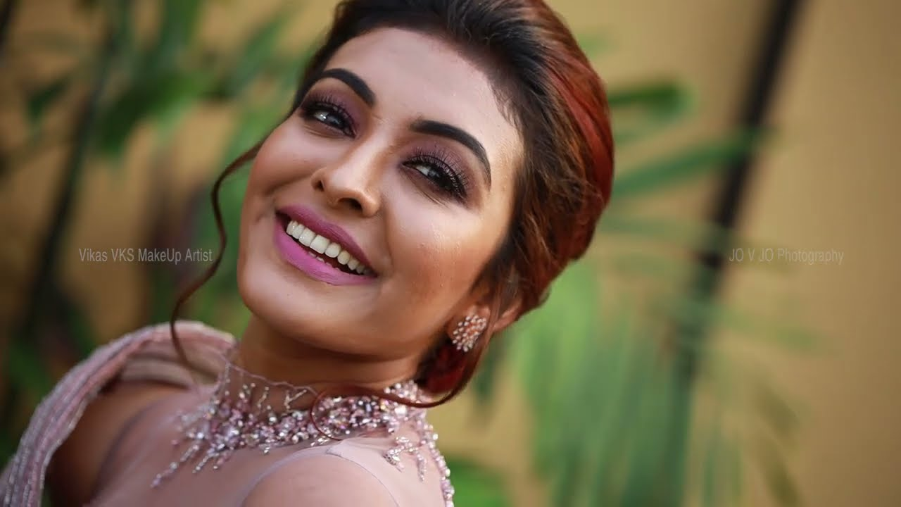 Malayalam Actress Durga Krishna wedding reception Makeup I Kerala Celebrity wedding I Vikas Vks