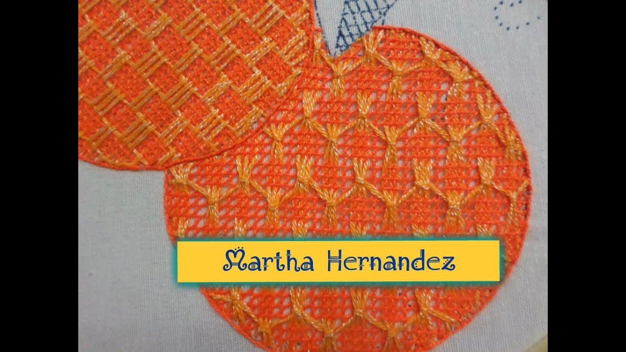 Bordado Fantasía Naranja # 4 - YouTube