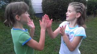 Girls rhyming clapping games