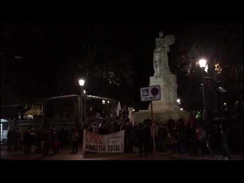 Concentración en Ourense por el encarcelamiento del rapero Pablo Hasél