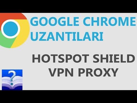 Google Chrome Uzantısı - Hotspot Shield VPN Proxy - YouTube
