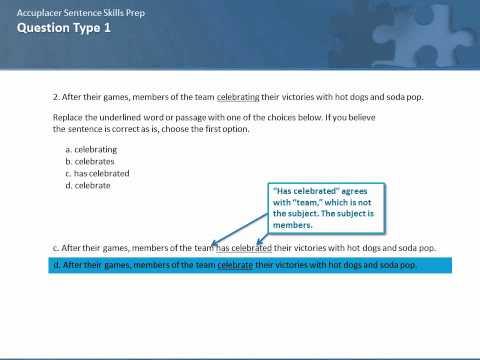 Accuplacer Sentence Skills Test Prep, Part 1