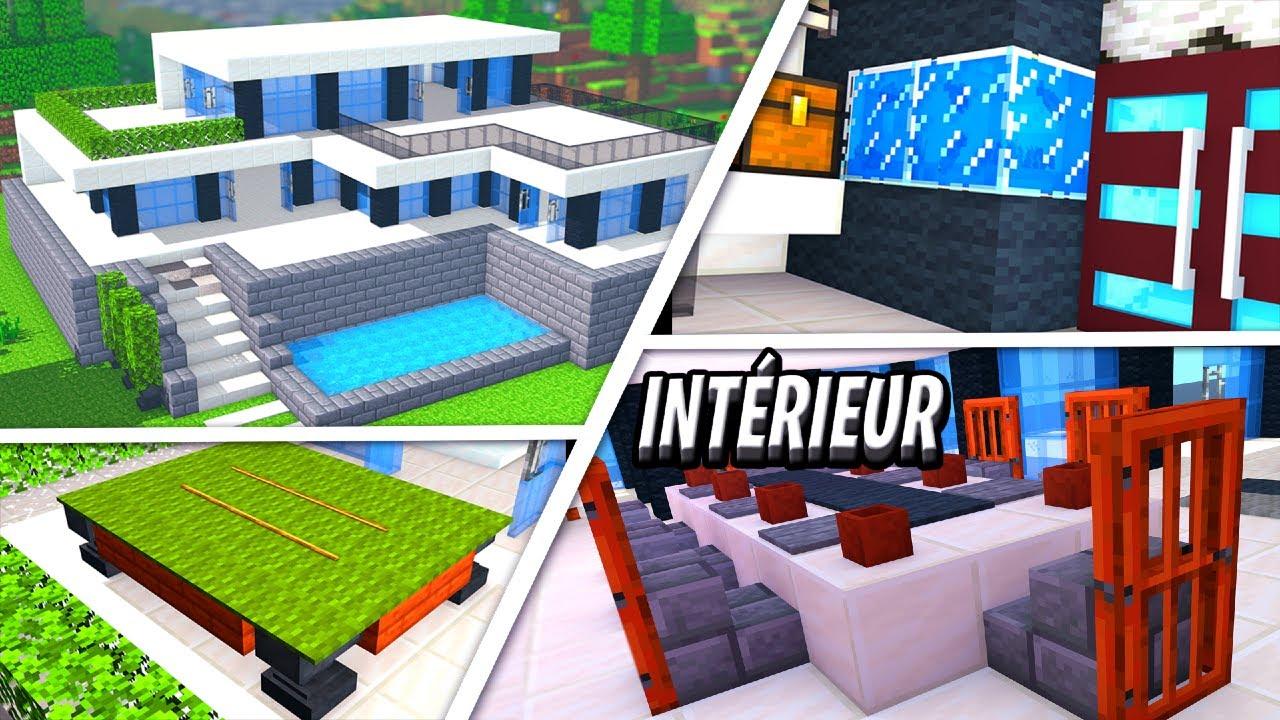 Tuto Grande Maison Moderne Facile A Faire Minecraft Partie 2 Youtube