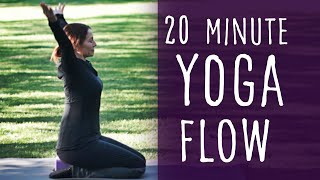 Video 20 Minute Yoga Flow with Fightmaster Yoga download MP3, 3GP, MP4, WEBM, AVI, FLV Maret 2018