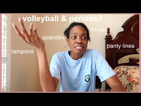 HOW TO PLAY VOLLEYBALL ON YOUR PERIOD LIKE A PRO!! Period hacks for athletes | Jacoby Sims