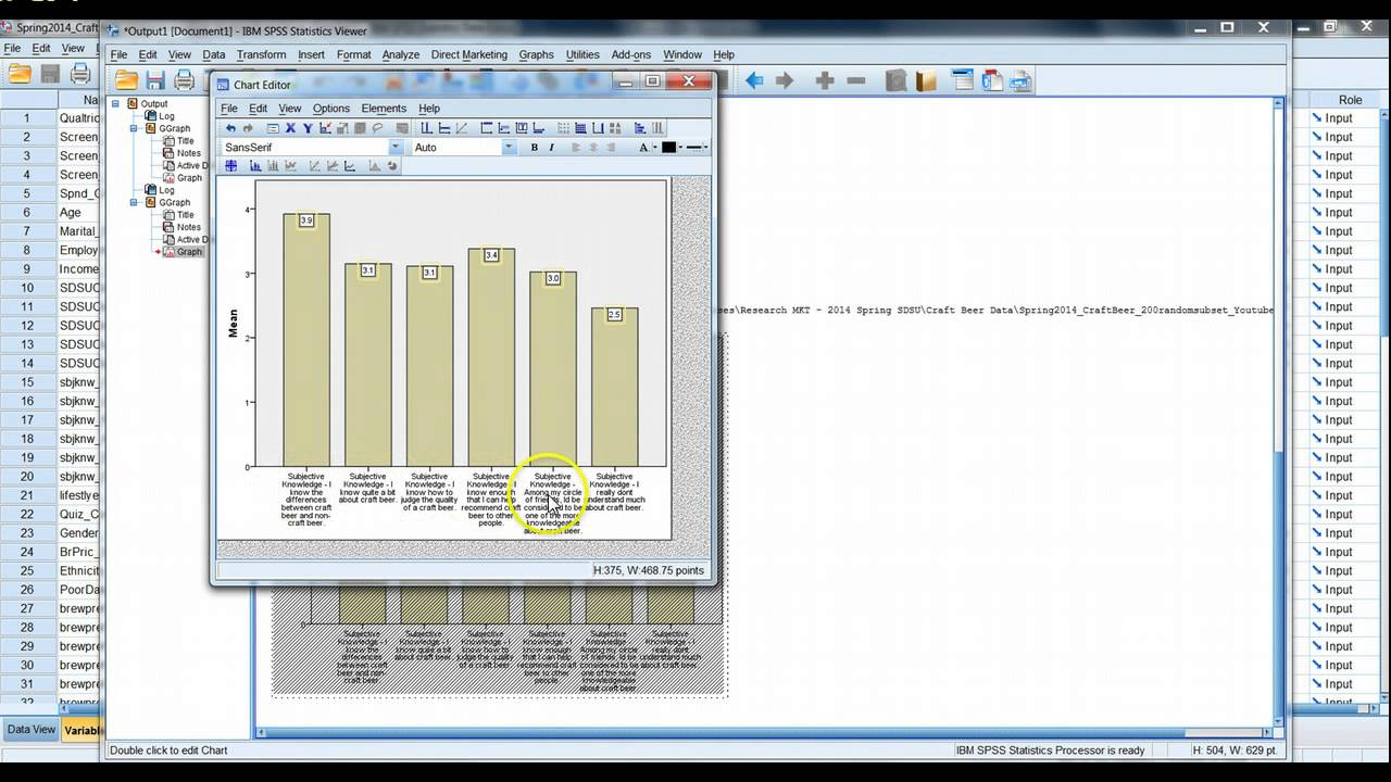 Multiple variable bar chart in spss and excel youtube multiple variable bar chart in spss and excel ccuart Gallery