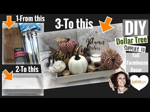 DIY Dollar Tree Farmhouse Tray/Decor | DIY Fall Decor | faythchik777's DIY by Design