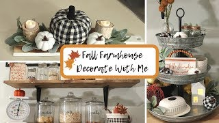 Fall Farmhouse Decorate With Me Collab | Kitchen Decor