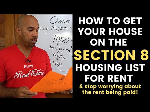 How To Get Your House On SECTION 8 Housing List For Rent-landlord