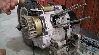 Remplacer un cylindre piston sur un scooter 4 Temps (FULL)