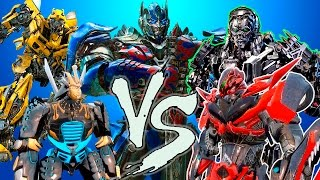 OPTIMUS PRIMEBUMBLEBEEDRIFT VS LOCKDOWNSTINGER EPIC BATTLE