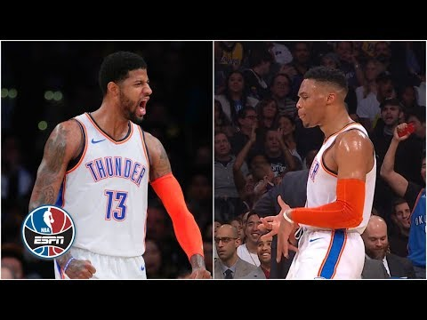 Paul George gets booed, Russell Westbrook trolls Lance Stephenson in Thunder win | NBA Highlights