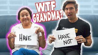 DIRTY NEVER HAVE I EVER with my GRANDMA!!! (Bad idea)