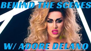 "ADORE DELANO ""GIVE ME TONIGHT"" MUSIC VIDEO EXCLUSIVE BEHIND THE SCENES -mathias4makeup"
