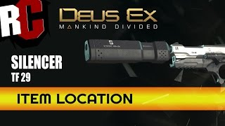 DEUS EX: Mankind Divided - How to find the silencer in TF 29